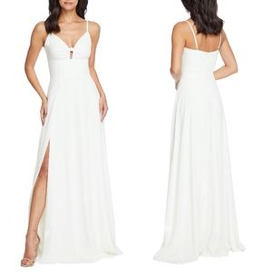 DRESS THE POPULATION Cambria Tie Bodice Dress GOWN